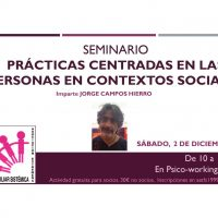 Seminario Prácticas centradas en las personas en contextos sociales Jorge Campos